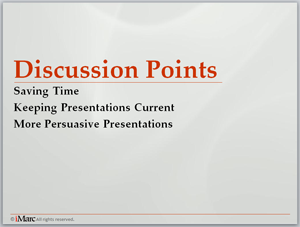 Calgary business-to-business (B2B) marketing sales presentation, PowerPoint tip - agenda